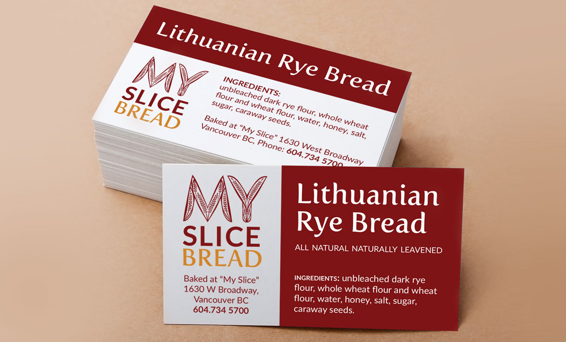 business card for bakery