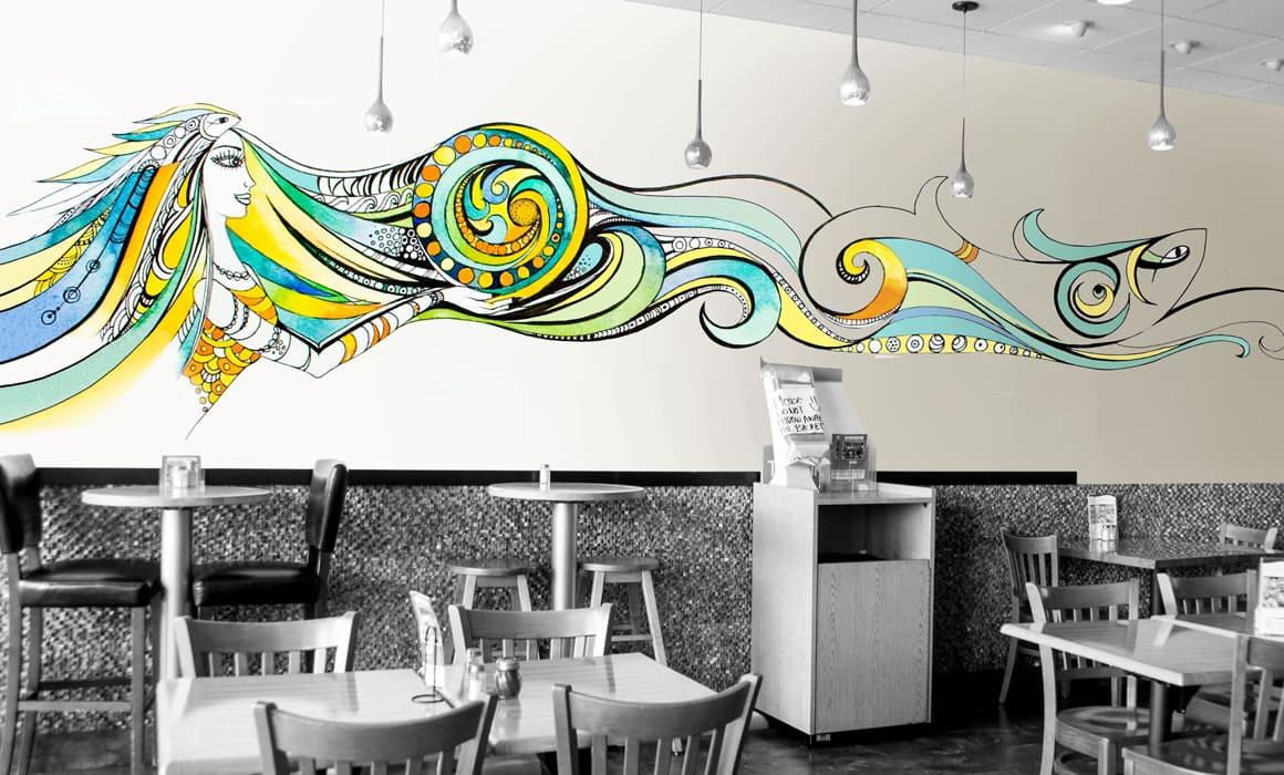 interior graphic for a restaurant