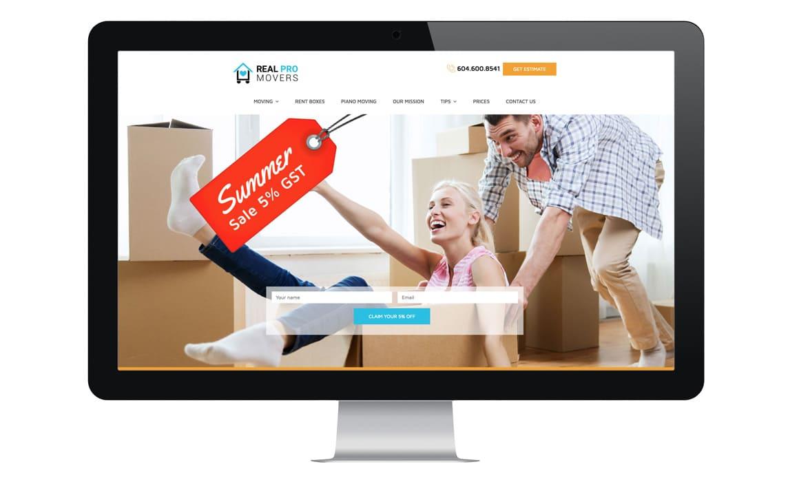 Website designfor moving company