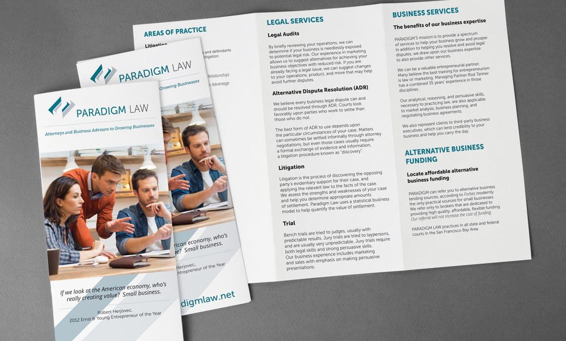 brochure design for a law company