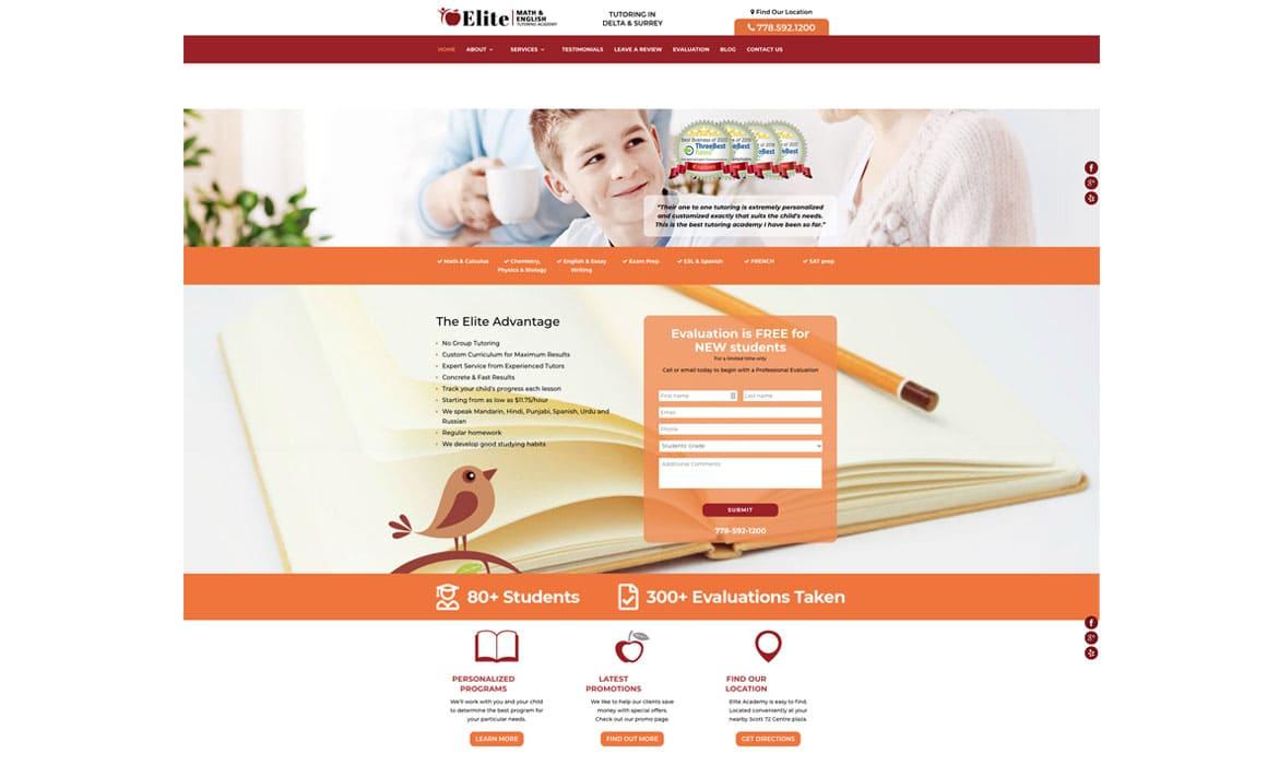 Website design for Tutoring school2